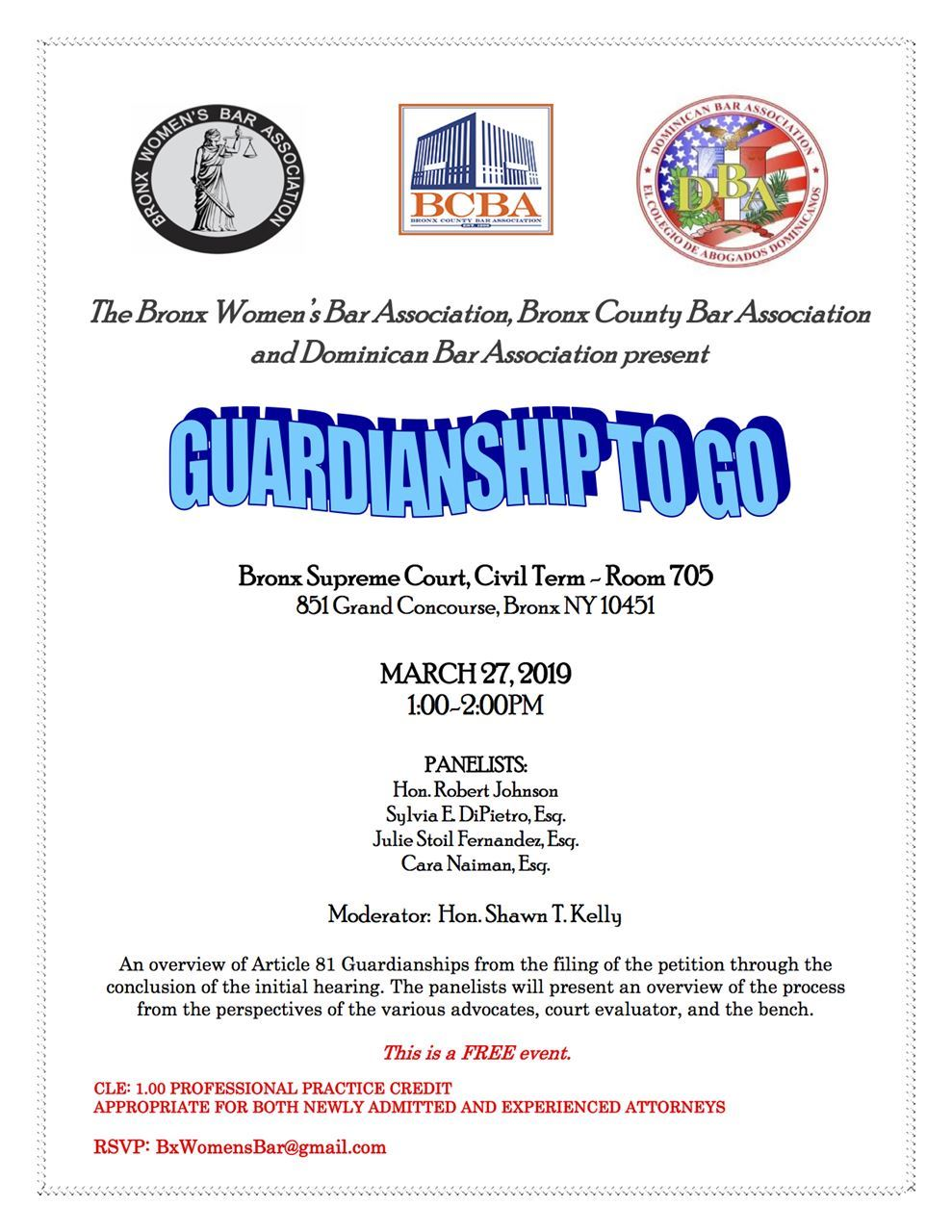 Dominican Bar Association - CLE: Guardianship To Go